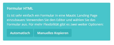 Mautic Formular kopieren