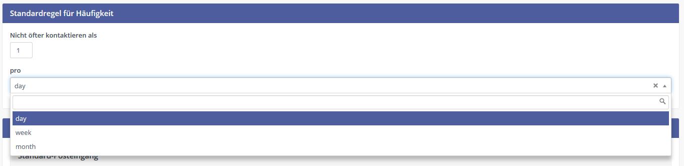 Mautic Email Warteschlangen Häufigkeits-Regeln für Kontaktaufnahmen