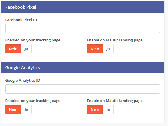 Mautic Facebook Pixel Google Analytics