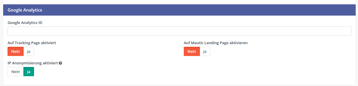 Mautic  Google Analytics